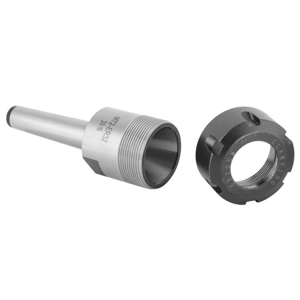 Collet Chuck Holder Set Drilling Boring MT2-ER32 Spindle Machines Shank Collet Chuck Holder and Collet Set for CNC Lathe Milling Machine Widely Used in Milling Tapping 3//8-16 Engraving