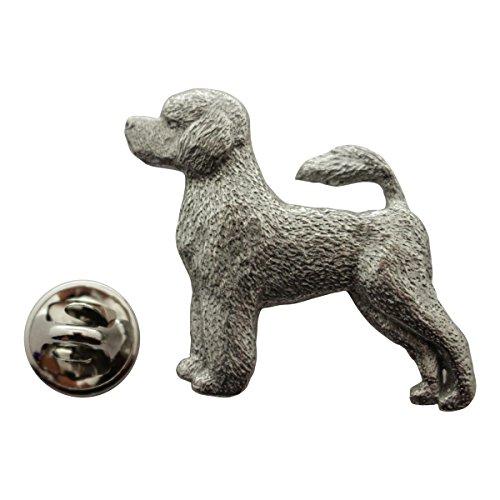 Sarah's Treats & Treasures Portuguese Water Dog Pin ~ Antiqued Pewter ~ Lapel Pin