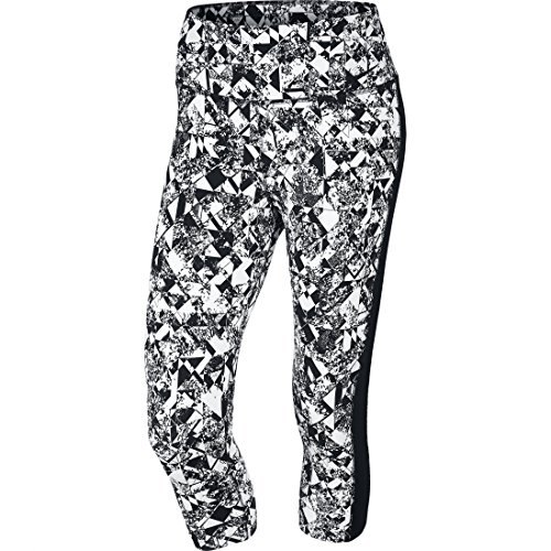 Nike Women's Legendary Jewels 3/4 Length Training Capri Tights X-Small White / Black