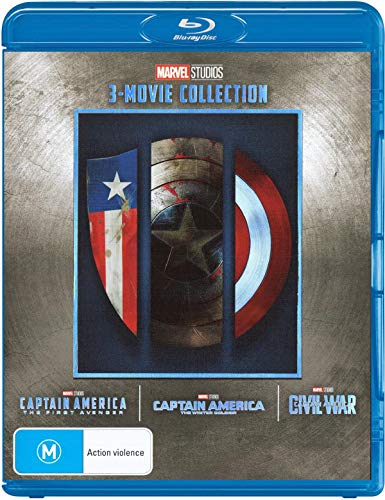 Captain America 3 Film Collection (Captain America: The First Avenger/Captain America: The Winter Soldier/Captain America: Civil War)