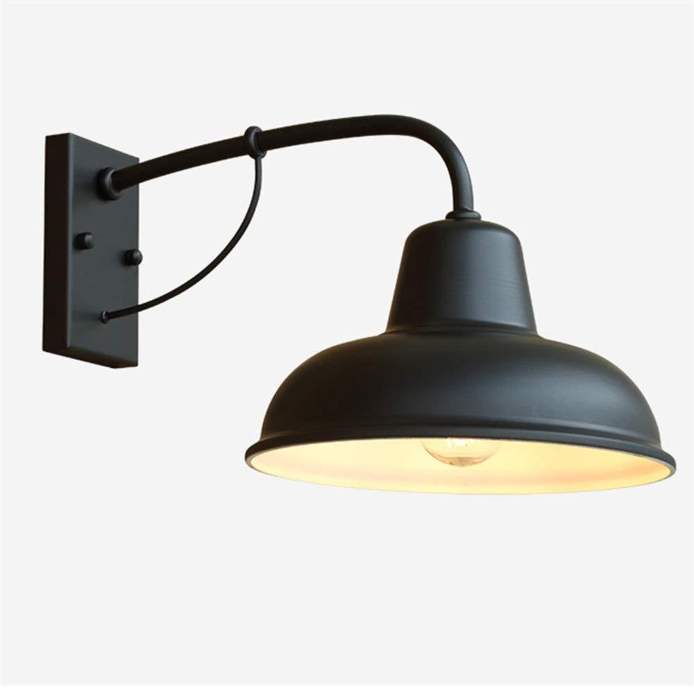 現代の壁ランプ, 屋外レトロウォールランプ錬鉄製ノスタルジックアメリカンシンプルなエクステリアドアドアランプガーデン屋外防水バルコニーガーデンランプ ベッドルームベッドサイドランプ (色 : B, サイズ : 40*23*26CM) 40*23*26CM B B07SPSD9DV