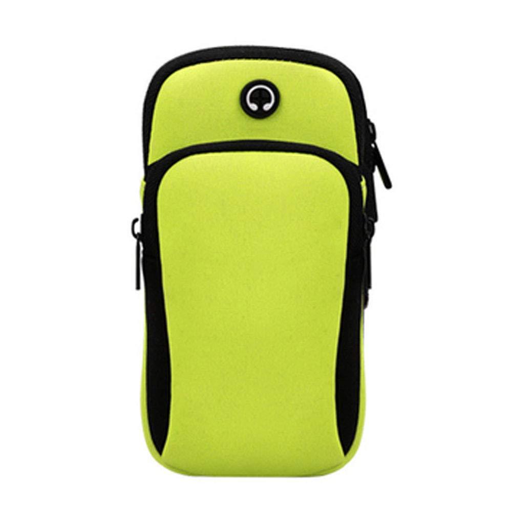 DyDiy Fascia Sportiva da Braccio,Portatile di Sport Armband Borsa Impermeabile Esterno Sacchetto Bracciale Auricolari per MP3 iPhone Samsung Huawei Xiaomi-Corsa,Palestra Blu