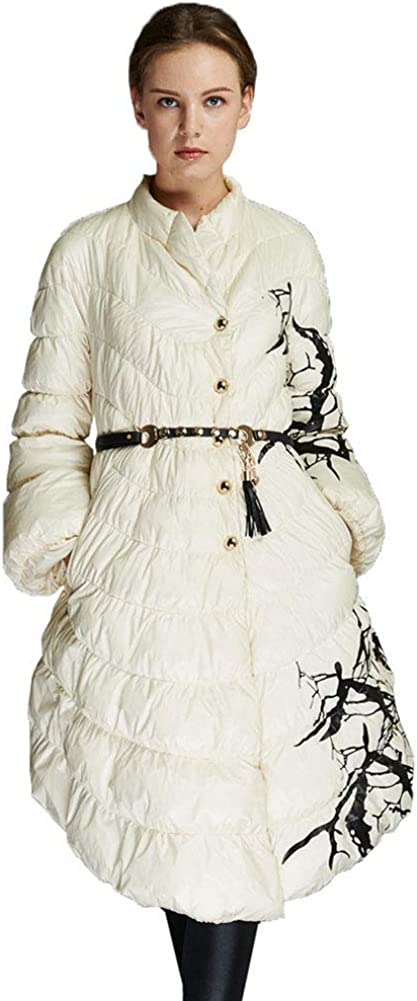 Womens Down Jacket A Version of The Cape Style Female Long Section Fashion Warm and Windproof