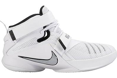 low priced cb3cb eef9d Nike LeBron Soldier IX TB, White, 8.5 D(M) US