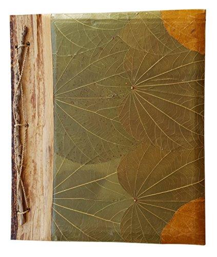 Leaf Album (Orange Corners Green Leaf Portrait Style Handmade Photo Album 9 by 11 Holds 40 4x6 Photos (5161))
