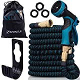 10. Flexible Garden Hose 50ft - Expandable and Retractable with 9 Spray Pattern, Lightweight and Collapsible Kink Free Usage For Outdoor