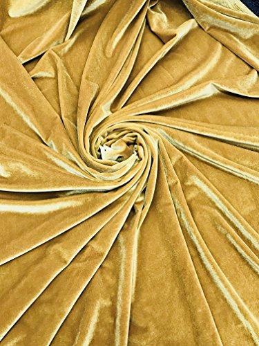 Stretch Velvet by The Yard - Gold Cloth Velvet