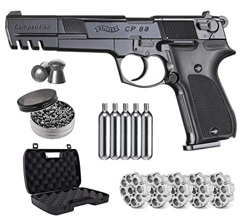 Umarex Walther CP88 4 inch Barrel CO2 .177 Cal Pellet Air Pistol with Wearable4U Bundle (May Vary)