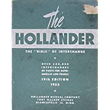 """Hollander 19th edition 1953.The """"BIBLE"""" of Interchange"""