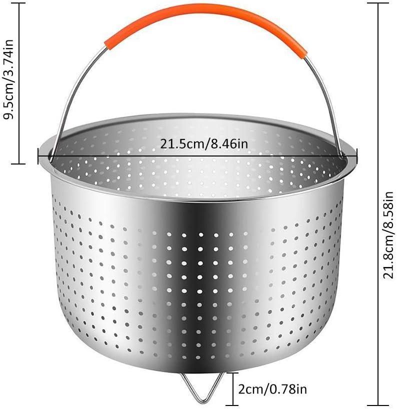 Anti-Skalding Steamer Multi-Funktion Stahlkorb Reiskorett Rice Cooker Gem/üse Fr/üchte Eier Fruchtreinigung Korb Edelstahl Dampfeinsatz Steaming Grid Pressure Cooker D/ämpfkorb Edelstahl