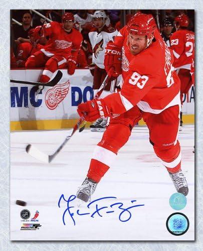 Johan Franzen Detroit Red Wings Autographed Action 8x10 Photo