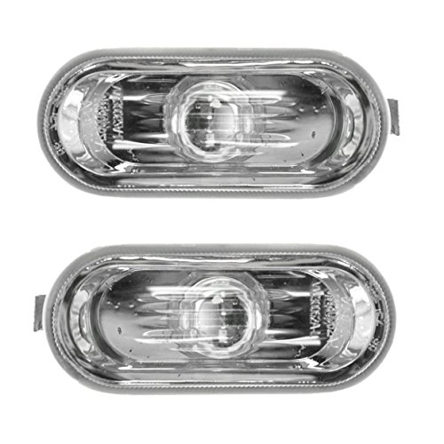 Marker Signal Blinker Corner Parking Light Lamp Pair Set for Golf Jetta Passat