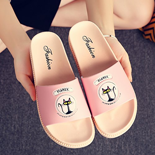 Slip Home Summer Slippers Home Slippers Women Couples Thick Non Bathroom Slippers Bath Students Tide Indoor Cool Shoes fankou HSvWnFF