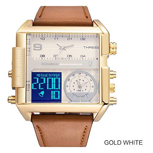 chengge Watch World Time Calendar Calendar Clock Bracelet Waterproof Multifunctional Smart Men and Women Sports Digital Watch (Date Gmt Watch)