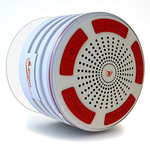 """iFox iF013 Bluetooth Shower Speaker - 100% Waterproof Shower Radio. Wireless It Pairs to All Bluetooth Devices - Phones, Tablets, Computer, Games (White)"""