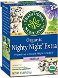 Traditional Medicinals Organic Nighty Night Extra Valerian Relaxation Tea, 16 Tea Bags (Pack of 6)