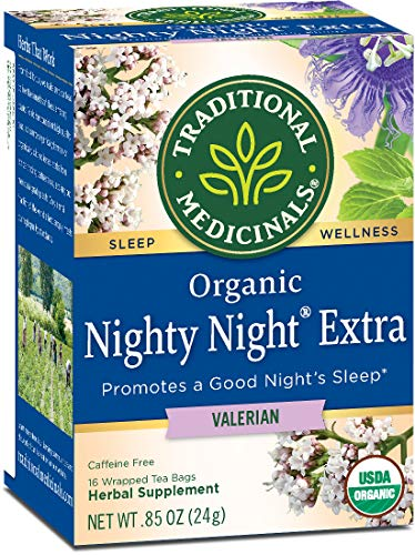 Traditional Medicinals Organic Nighty Night Valerian Relaxation Tea, 16 Tea Bags (Packaging may Vary)