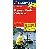 Bremen - Verden - Walsrode: Fahrradkarte. GPS-genau. 1:70000 (KOMPASS-Fahrradkarten Deutschland, Band 3013)