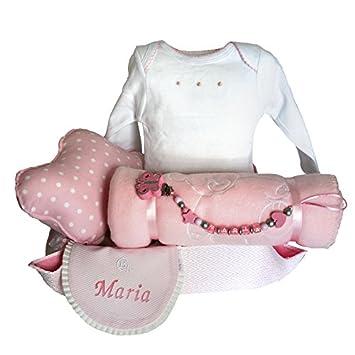 Canastilla bebé - Cuki nube rosa - cesta regalo recién nacido Mil ...