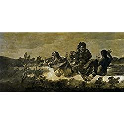 Oil Painting 'Goya Y Lucientes Francisco De The Fates (Atropos) 1821 23 ' Printing On High Quality Polyster Canvas , 10 X 21 Inch / 25 X 53 Cm ,the Best Nursery Decoration And Home Decor And Gifts Is This Amazing Art Decorative Prints On Canvas
