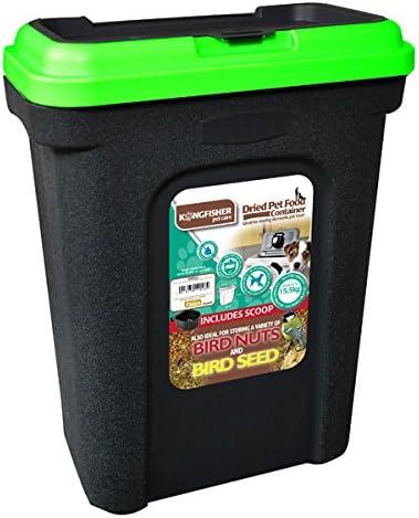 Unibos 30L Large Pet Food Container Dog Cat Animal Storage Bin Bird Seed Box Flip Top Locking Lid With Scoop Crack Resistant