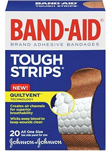 (B-A Flex Fab Tough Strips Size 20ct Band-Aid Flexible Fabric Tough Strips )