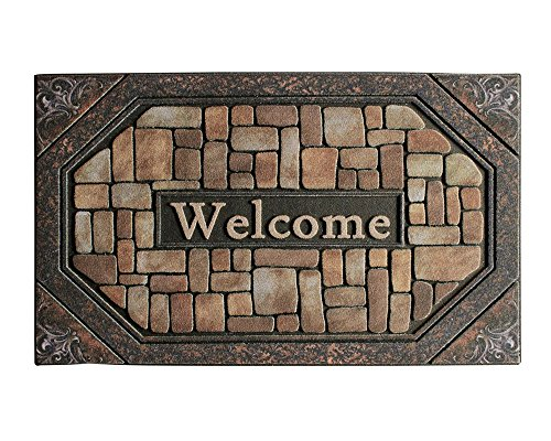 Cheap  YK Decor Outdoor Welcome Mats for Front Door Entrance Non Slip Rubber..