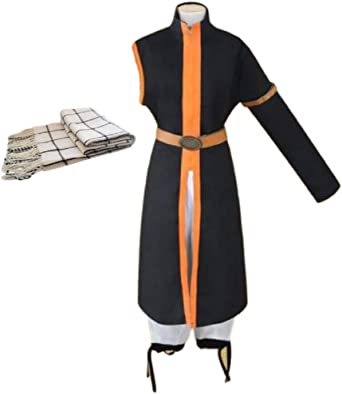 NEW Anime Fairy Tail Natsu Dragneel Cos Cosplay Costume Fancy Clothing full set