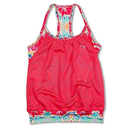 Puma Big Girls 7-14 Tank Top Athletic Mesh and Spandex Bra Top Tank Multi- Color