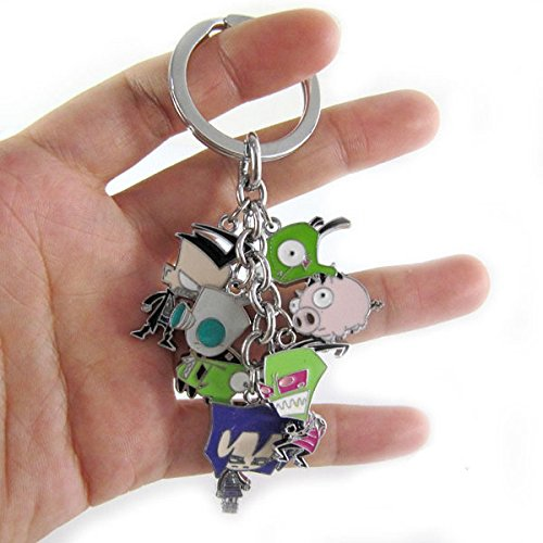 Invader ZIM Metal Keychain character doll pendant Key Ring Photo #2