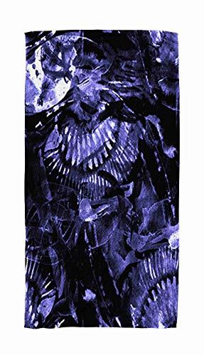 (Jacrane Beach Towels Quick Dry Sandproof Watercolor Tropical Pattern Tribal Colorful Paint Print Oriental Splash Watercolour Texture Lightweight Travel Swimming Towel for Women Body)
