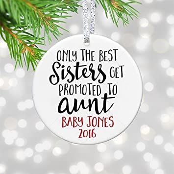 amazon com the best sisters get promoted to aunt new mommy gift