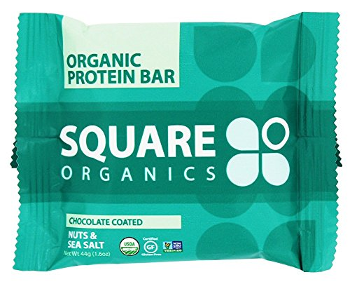 Square Organics – Organic Protein Bar Chocolate Coated Nuts & Sea Salt – 1.6 oz. Review