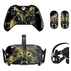 MightySkins Protective Vinyl Skin Decal for Oculus Rift CV1 wrap cover sticker skins Neon Wolf