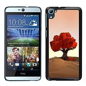 // PHONE CASE GIFT // Duro Estuche protector PC Cáscara Plástico Carcasa Funda Hard Protective Case for HTC Desire D826 / Polygon Art Nature Fall Autumn /