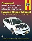 Chevy & Monte Carlo Impala 06-11 Monte Carlo 06-07 (Haynes Repair Manual)