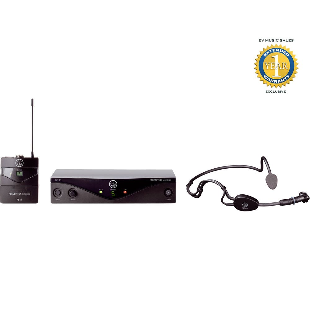 AKG Perception Wireless Sports Set Wireless Microphone System Band A (530 - 560 MHz) with 1 Year Free Extended Warranty by AKG