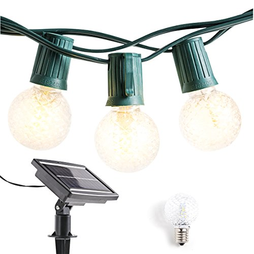 Outdoor Bistro Solar Powered Globe String Lights: Solar Powered Outdoor String Lights Patio Lights