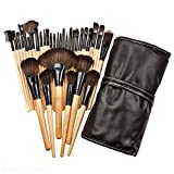 32Pcs Print Logo Makeup Brushes - Professional Cosmetic Make Up Brush Set