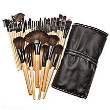 32Pcs Print Logo Makeup Brushes - Professional Cosmetic Make Up Brush Set