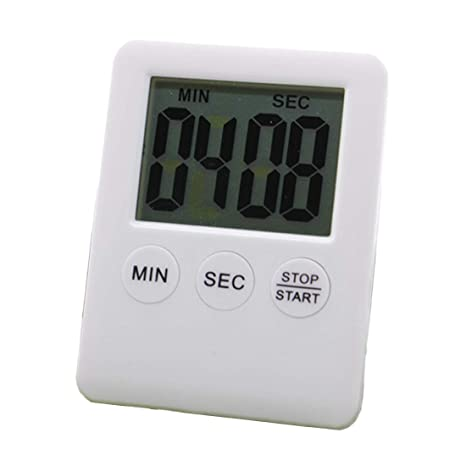 LCD Cocina digital Temporizador de dígitos grandes Cuenta regresiva Arriba Reloj Temporizador de cocción Alarma fuerte