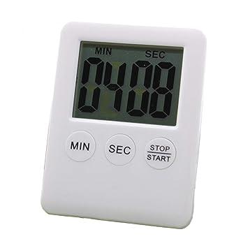 LCD Cocina digital Temporizador de dígitos grandes Cuenta regresiva Arriba Reloj Temporizador de cocción Alarma fuerte: Amazon.es: Bricolaje y herramientas