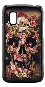 HeartCase Hard Case for Google Nexus 4 LG E960 ( Skull Tattoo Partterned )