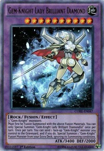 (Yu-Gi-Oh! - Gem-Knight Lady Brilliant Diamond (CORE-EN047) - Clash of Rebellions - 1st Edition - Ultra)