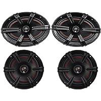 (2) MB Quart XK1-169 X-Line 6x9 200w Car Audio Speakers+(2) 6.5 2-Way Speakers