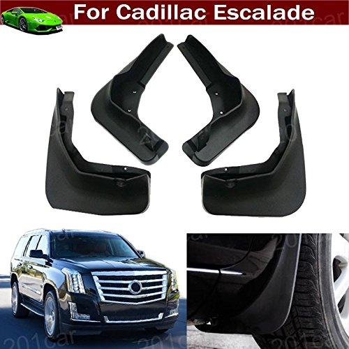 Tiantian New 4pcs Mud Flap Splash Guard Fender Mudguard Mudflap for Cadillac Escalade 2015 2016 2017 2018 2019 (Flaps Mud Cadillac)