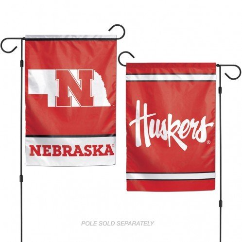 NCAA University of Nebraska 12x18 Inch 2-Sided Outdoor Garden Flag Banner (Ncaa Nebraska University)