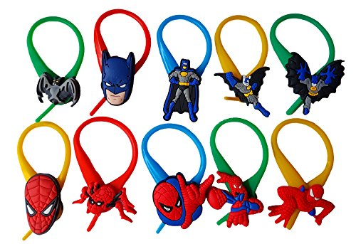 AVIRGO 10 pcs Colorful Soft Zipper Pull Charms for Jacket Backpack Bag Pendant Set # 122 - 4