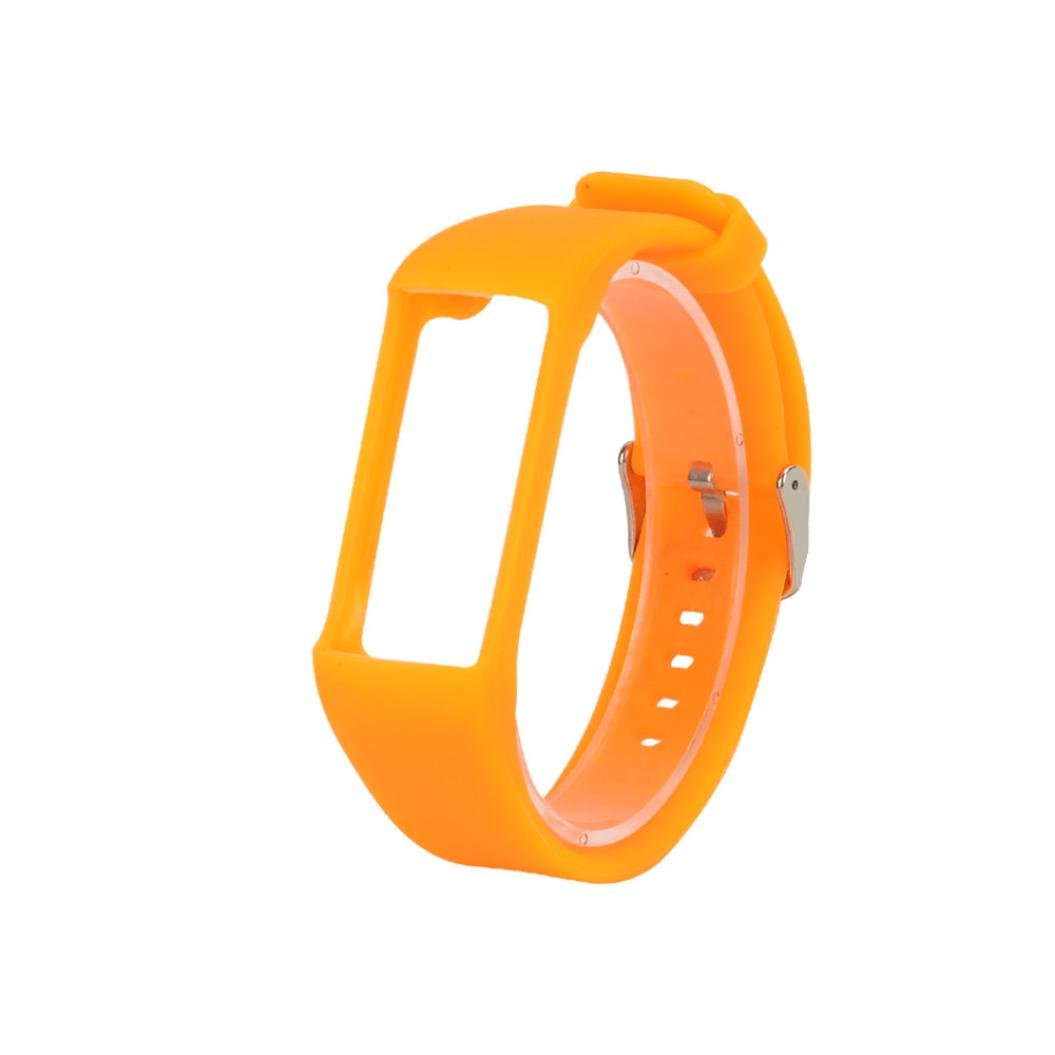Memela ( TM ) for Polar a360スマート時計、新しいファッションシリコンクイックリリースソフトラバー交換用時計バンド  オレンジ B075R3YWYV