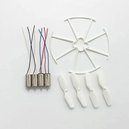4pcs RC Drone Motors Propellers Protective Rings Spare Parts for ...